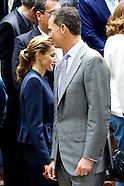 061114 Princess Letizia of Spain and Prince Felipe of Spain Visit A Traditional Students Residence