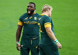 November 19, 2016 - Rome, Italy - Tendai Mtawarira and Adriaan Strauss (S)  during the international match between Italy v South Africa at Stadio Olimpico on November 19, 2016 in Rome, Italy. (Credit Image: © Matteo Ciambelli/NurPhoto via ZUMA Press)