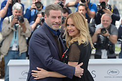File photo - John Travolta and Kelly Preston attending the Rendez-vous with John Travolta - Gotti Photocall held at the Palais des Festivals as part of the 71st annual Cannes Film Festival on May 15, 2018 in Cannes, France. Kelly Preston, the actress married to John Travolta, has died after a private battle with breast cancer, aged 57. The actress had been battling against breast cancer for two years, with a family representative confirming news of her passing to People today. Photo by Aurore Marechal/ABACAPRESS.COM