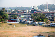 Bus station in town centre of Galle, Sri Lanka, Asia looking south