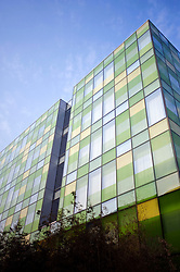 Glass fronted facade of new exclusive boutique hotel called The Opposite House in Beijing 2009