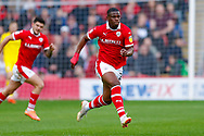 Barnsley forward Mamadou Thiam (26) in action  during the EFL Sky Bet League 1 match between Barnsley and Luton Town at Oakwell, Barnsley, England on 13 October 2018.