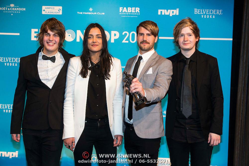 NLD/Amsterdam//20140331 - Uitreiking Edison Pop 2014, Mister and Mississippi