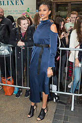 © Licensed to London News Pictures. 18/09/2016.  ALESHA DIXON attends the TOP SHOP UNIQUE  Spring/Summer 2017 show. Models, buyers, celebrities and the stylish descend upon London Fashion Week for the Spring/Summer 2017 clothes collection shows. London, UK. Photo credit: Ray Tang/LNP<br /> <br /> <br /> London, UK. Photo credit: Ray Tang/LNP