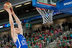 Yevgen Sakhniuk (team blue) of Ukraine during basketball match U18 All Star Game 2013 at Day 18 of Eurobasket 2013 on September 21, 2013 in SRC Stozice, Ljubljana, Slovenia. (Photo By Urban Urbanc / Sportida)