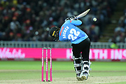 Sussex's Jofra Archer bouncer during the final of the Vitality T20 Finals Day 2018 match between Worcestershire rapids and Sussex Sharks at Edgbaston, Birmingham, United Kingdom on 15 September 2018.