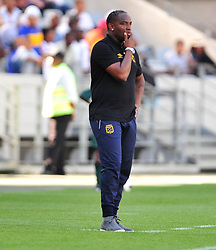 Cape Town--180401  Cape Town City coach  Bennie McCarthy looks disappointed after his team was knocked out of the Nedbank Cup quarter final game by Sundowns  at the Cape Town Stadium.Sundowns won the game 2-1 and will play maritzburg in the Semi-final  .Photographer;Phando Jikelo/African News Agency/ANA