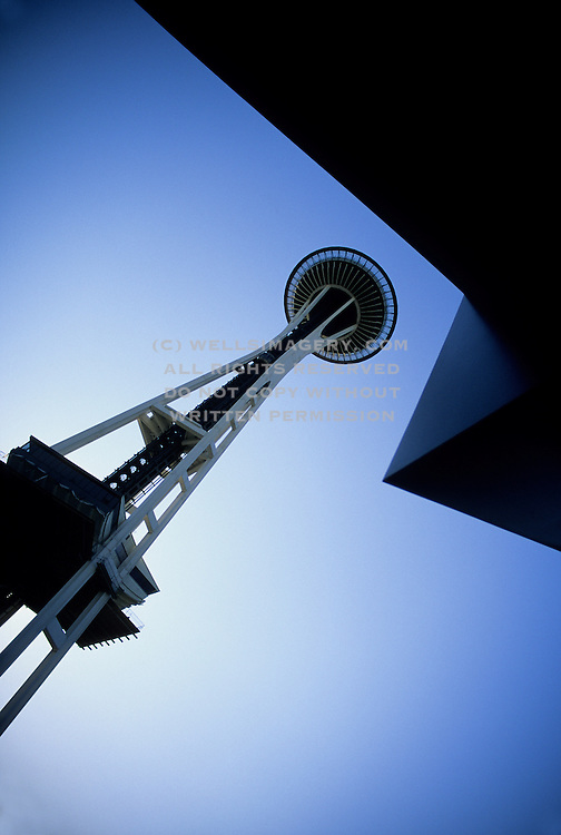 Image of the Space Needle in Seattle, Washington, Pacific Northwest by Andrea Wells