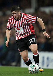 """Sunderland's Lynden Gooch during the Carabao Cup, Third Round match at Goodison Park, Liverpool. PRESS ASSOCIATION Photo. Picture date: Wednesday September 20, 2017. See PA story SOCCER Everton. Photo credit should read: Nick Potts/PA Wire. RESTRICTIONS: EDITORIAL USE ONLY No use with unauthorised audio, video, data, fixture lists, club/league logos or """"live"""" services. Online in-match use limited to 75 images, no video emulation. No use in betting, games or single club/league/player publications"""