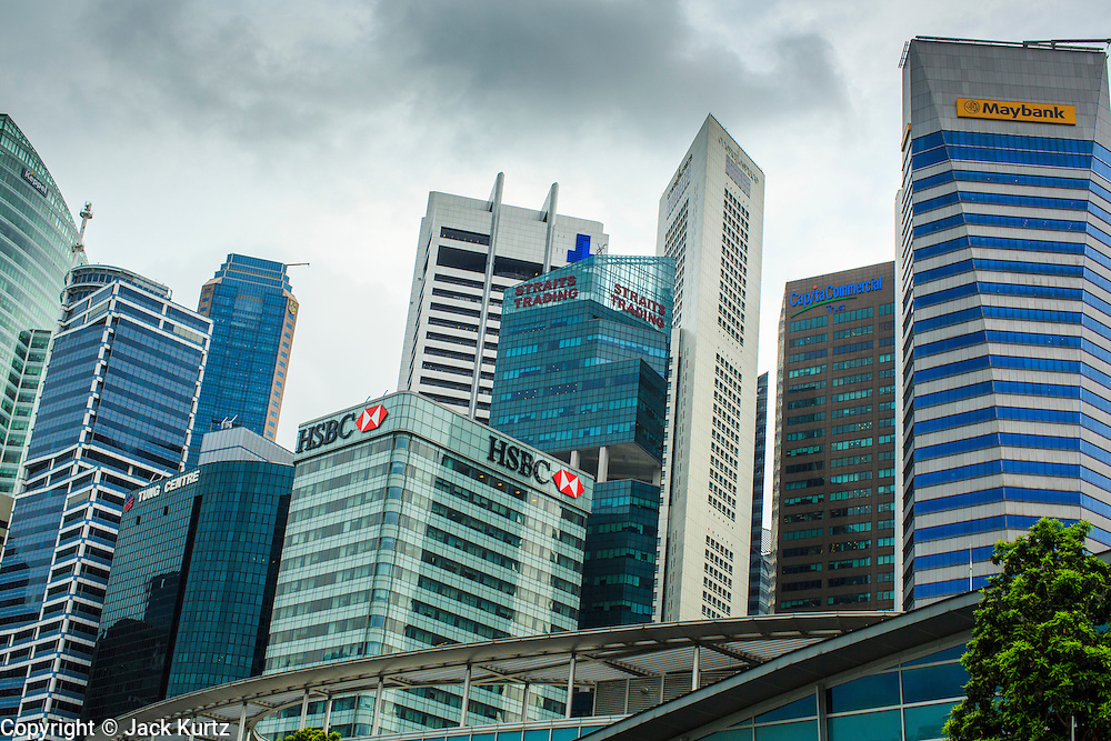 18 DECEMBER 2012 - SINGAPORE, SINGAPORE: International financial buildings rise over the Central Business District (CBD) of Singapore. Singapore is a world financial hub.    PHOTO BY JACK KURTZ
