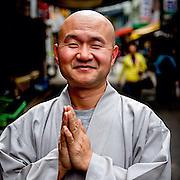 Portrait of a Buddhist Monk in the city of Gongju, South Korea. #Gongju #southkorea #Korea #abeautifulstrangedream #asia #portrait #latergram #religion #buddhism #market #latergram