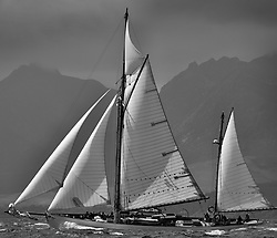 Day five of the Fife Regatta, Race from Portavadie on Loch Fyne to Largs. <br /> <br /> Kentra, E & D Klaus, GBR, Gaff Ketch, Wm Fife 3rd, 1923<br /> <br /> * The William Fife designed Yachts return to the birthplace of these historic yachts, the Scotlandís pre-eminent yacht designer and builder for the 4th Fife Regatta on the Clyde 28th Juneñ5th July 2013<br /> <br /> More information is available on the website: www.fiferegatta.com