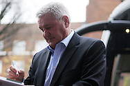 Aston Villa Manager Steve Bruce arriving at Loftus Road and signing autographs for the fans. EFL Skybet championship match, Queens Park Rangers v Aston Villa at Loftus Road Stadium in London on Sunday 18th December 2016.<br /> pic by Steffan Bowen, Andrew Orchard sports photography.