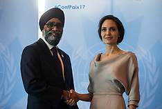 Angelina Jolie At UN Peacekeeping Defence Ministerial - 15 Nov 2017
