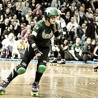 Manchester Roller Derby's Furies take on the Rainy City Roller Girls Furies at George H Carnall Sports Centre, Manchester, 2014-01-25