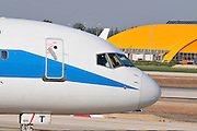 Israel, Ben-Gurion international Airport Sun D'Or International Airlines ready for takeoff
