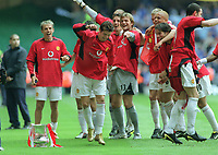 Ronaldo (Utd) dances around the trophy. Manchester United v Milwall. FA Cup Final 2004 @  The Millennium Stadium,Cardiff. 22/5/2004. <br /> <br /> Foto: Colorsport/Digitalsport<br /> NORWAY ONLY
