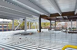 Camera View: Southeast. Third floor. Central Connecticut State University. New Academic Building. Project No: BI-RC-324. Architect: Burt Hill Kosar Rittelmann Associates. Contractor: Gilbane Building Company, Glastonbury, CT.