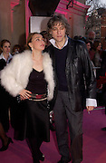 Sir Bob Geldof and Jeanne Marine. Opening of Vivienne Weatwood exhibition. V. & A. 30 March 2004. ONE TIME USE ONLY - DO NOT ARCHIVE  © Copyright Photograph by Dafydd Jones 66 Stockwell Park Rd. London SW9 0DA Tel 020 7733 0108 www.dafjones.com