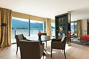 modern architecture, Interior, beautiful penthouse, dining room