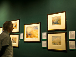 Pictured: Turner art exhibition. For more than a century the National Galleries of Scotland (NGS) have displayed an outstanding collection of Turner watercolours, from the 38 paintings bequeathed by Henry Vaughan in 1900. His will stipulated that the paintings should only be shown in January when daylight in Edinburgh is weak. The annual exhibition by artist Joseph Mallord William Turner (1775-1851) is supported by players of People's Postcode Lottery for the 7th year running. The focal point is a dramatic portrait of the Bell Rock lighthouse built by Robert Stevenson (1772-1850) which was commissioned 200 years ago by the lighthouse engineer to illustrate his book 'Account of the Building of Bell Rock Lighthouse'. Bell Rock is the oldest surviving rock lighthouse in the British Isles, first lit in 1811. It stands on a partially submerged reef near Angus, regarded by sailors as among the most dangerous places on the east coast of Scotland. The exhibition opens on New Year's Day at Scottish National Gallery and last for one month. 20 December 2018  <br /> <br /> Sally Anderson   EdinburghElitemedia.co.uk