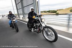 Akari Uno riding her Yamaha SR 400 on the SureShot ride around Chiba, Japan. Saturday, December 8, 2018. Photography ©2018 Michael Lichter.