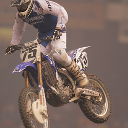 14 March 2009: Joshua Hill (75) gains air during the Monster Energy AMA Supercross race at the Louisiana Superdome in New Orleans, Louisiana