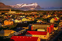 Bodo in the Arctic, Northern Norway during the long evenings of Midnight Sun.