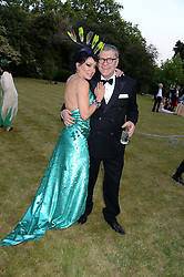 NANCY DELL'OLIO and JACK VETTRIANO at The Animal Ball in aid of The Elephant Family held at Lancaster House, London on 9th July 2013.