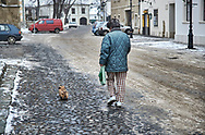 SERIES - UNRLIABLE-SIGHTINGS by PAUL WILLIAMS- Walking the dog Korszeg Hungary .<br /> <br /> Visit our REPORTAGE & STREET PEOPLE PHOTO ART PRINT COLLECTIONS for more wall art photos to browse https://funkystock.photoshelter.com/gallery-collection/People-Photo-art-Prints-by-Photographer-Paul-Williams/C0000g1LA1LacMD8