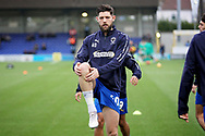 AFC Wimbledon midfielder Anthony Wordsworth (40) warming up before the EFL Sky Bet League 1 match between AFC Wimbledon and Plymouth Argyle at the Cherry Red Records Stadium, Kingston, England on 26 December 2018.