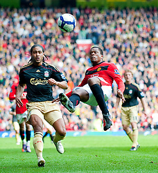 21.03.2010, Old Trafford, Manchester, ENG, PL, Manchester United vs Liverpool FC im Bild Manchester United's Patrice Evra Fallrückzieher, EXPA Pictures © 2010, PhotoCredit: EXPA/ Propaganda/ D. Rawcliffe / SPORTIDA PHOTO AGENCY