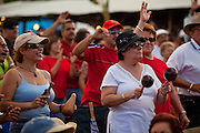 People dance and celebrate during the Maricao Coffee Festivals in the highlands of Puerto Rico