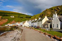 Historic coastal village of Pennan in Aberdeenshire in Scotland United Kingdom