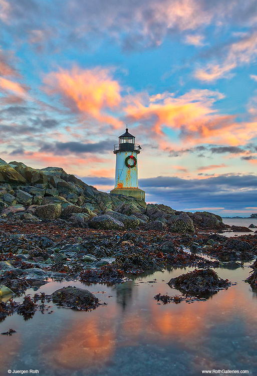 New England lighthouse photography of Fort Pickering Light at sunset before full moon rise. This iconic Massachusetts lighthouse is located at Winter Island Park in Salem Massachusetts.<br /> <br /> Iconic New England lighthouse photography images are available as museum quality photography prints, canvas prints, acrylic prints, wood prints or metal prints. Fine art prints may be framed and matted to the individual liking and interior design decorating needs:<br /> <br /> https://juergen-roth.pixels.com/featured/fort-pickering-light-juergen-roth.html<br /> <br /> Good light and happy photo making!<br /> <br /> My best,<br /> <br /> Juergen<br /> Photo Prints: http://www.rothgalleries.com<br /> Photo Blog: http://whereintheworldisjuergen.blogspot.com<br /> Instagram: https://www.instagram.com/rothgalleries<br /> Twitter: https://twitter.com/naturefineart<br /> Facebook: https://www.facebook.com/naturefineart