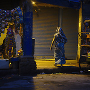 The alleys of Chandni Chowk, the market are of Old Delhi, closing at the end of the day.