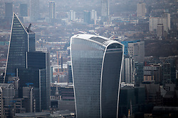 UK LONDON 23MAR19 - Aerial view of the Walkie-Talkie Building in the City of London.<br /> <br /> <br /> <br /> jre/Photo by Jiri Rezac/ Led By Donkeys