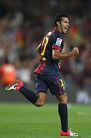 FOOTBALL - SPANISH SUPER CUP 2012 - 1ST LEG - FC BARCELONA v REAL MADRID - 23/08/2012 - PHOTO MANUEL BLONDEAU / AOP.Press / DPPI - PEDRO CELEBRATES