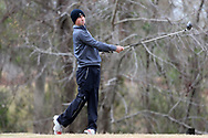 WILMINGTON, NC - MARCH 19: UNC Wilmington's Thomas Eldridge tees off on the Marsh Course third hole. The first round of the 2017 Seahawk Intercollegiate Men's Golf Tournament was held on March 19, 2017, at the Country Club of Landover Nicklaus Course in Wilmington, NC.