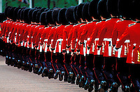 Royaume-Uni, Londres, Westminster, Whitehall, Trooping the Colour aussi appelé The Queen's Annual Birthday Parade (défilé annuel pour l'anniversaire de la reine) a lieu le 2e ou 3e samedi en juin sur la Horse Guards Parade // UK, England, London, Trooping the Colour Ceremony at Horse Guards Parade Whitehall