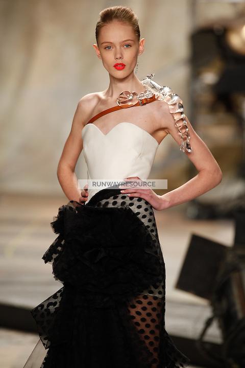 Frida Gustavsson wearing Isaac Mizrahi Spring 2010 collection during Mercedes-Benz Fashion Week in New York, September 17, 2009