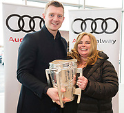 Connolly Motor Group has opened its new state-of-the-art Audi Terminal Showrooms in Ballybrit, Galway. <br /> The finishing touches have been put to the ultra-modern dealership, increasing to 35 full-time jobs, bringing the number of full-time employees at the Connolly Motor Group to over  200 with 35 of those located in Galway.<br /> Work on the new €5 million state-of-the-art dealership began just before Christmas last year and opened on Tuesday October 31st.<br /> The new 'Audi Terminal' is just a stone's throw from Connollys' former Audi Galway dealership at the Briarhill Business Park, close to the Galway Racecourse in Ballybrit. <br /> Finished to the highest spec with the most up-to-date technology, the 23,000 sq. ft. car retail facility is based around Audi's newest design concept. <br /> It is one of the most modern facilities in the country and includes the most up-to-date technology for electric vehicles with multiple power points.<br /> At the Weekend launch was Joe Canning Audi Ambassador with  Mary Joyce Claregalway Photo:Andrew Downes