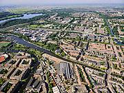Nederland, Noord-Holland, Amsterdam, 02-09-2020; Hoofddorppleinbuurt met daar achter Amsterdam Nieuw-West incl. Nieuw Sloten en Riekerpolder. Links De Nieuwe Meer met Schiphol in het verschiet.<br /> Amsterdam New-West including New Sloten and Riekerpolder. Left De Nieuwe Meer with Schiphol in the offing.<br /> <br /> luchtfoto (toeslag op standard tarieven);<br /> aerial photo (additional fee required);<br /> copyright foto/photo Siebe Swart