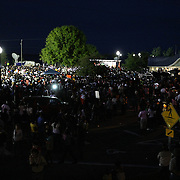 Thousands of supporters stayed into the night during a rally for the shooting of Trayvon Martin on Thursday, March 22, 2012 at Fort Mellon Park in Sanford, Florida. (AP Photo/Alex Menendez) Trayvon Martin rally in Sanford, Florida.