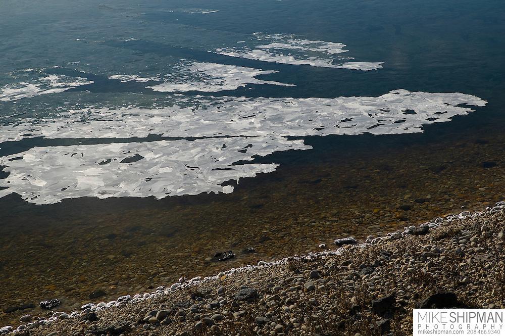Thin ice on Lake Lowell, Deer Flat National Wildlife Refuge