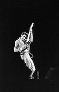 Pete Townshend of The Who playing guitar up