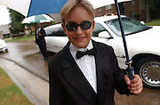 Louis Focht, 10, wanted to dress up and rent a limo for his birthday.