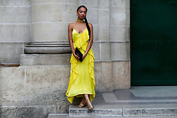 Street style, Manon Bresch arriving at Kenzo Spring-Summer 2019 menswear show held at Maison de la Mutualite, in Paris, France, on June 24th, 2018. Photo by Marie-Paola Bertrand-Hillion/ABACAPRESS.COM