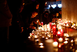 November 13, 2016 - Paris, France - Flowers, messages and candles displayed at a makeshift memorial n front of the Bataclan night club as France marked the first anniversary of the Paris attacks with sombre ceremonies and painful memories for the relatives of the 130 people killed. (Credit Image: © Mehdi Taamallah/NurPhoto via ZUMA Press)