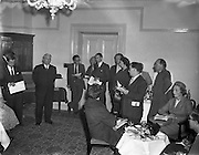 10/10/1958<br /> 10/10/1958<br /> 10 October 1958<br /> Press Conference by Chinchilla Ltd. at the Shelbourne Hotel, Dublin, for Domas Ltd